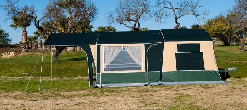 Remolque camping Compact con toldo