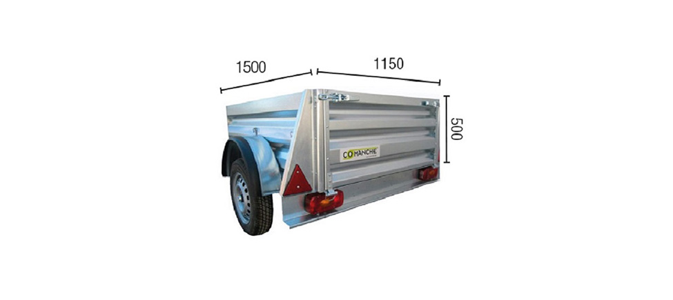 Remolque de carga Industrial 150 medidas