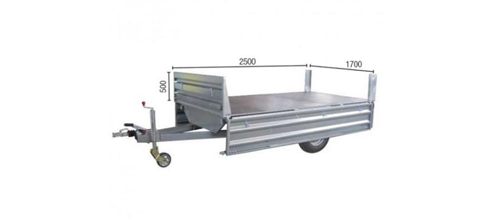 Remolque de carga Paletizable 2500 medidas