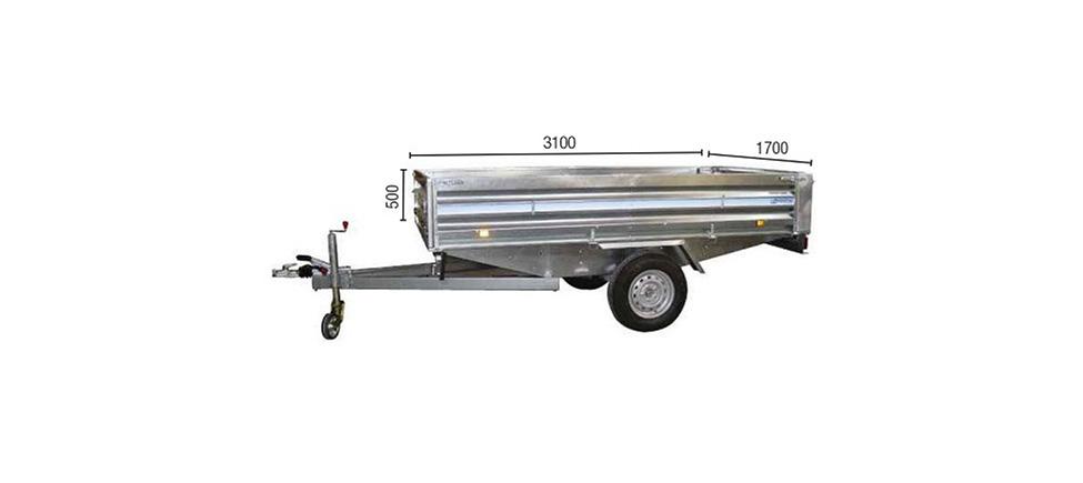 Remolque de carga Paletizable 3100 medidas
