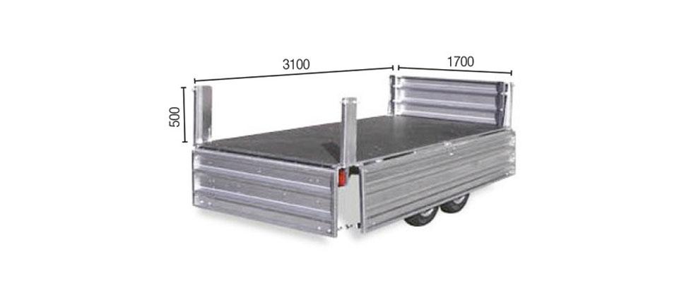 Remolque de carga Paletizable 3100 Tandem