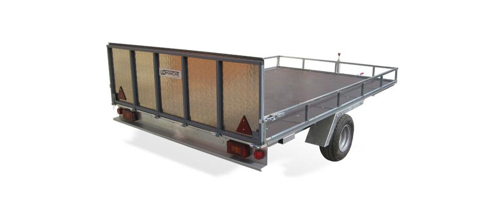 Remolque de carga Plataforma Agrogarden cerrado