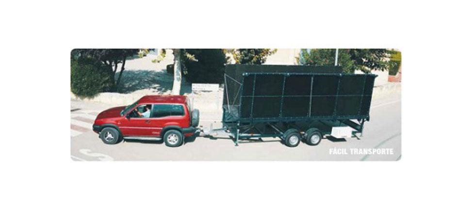 Remolque Escenario transporte