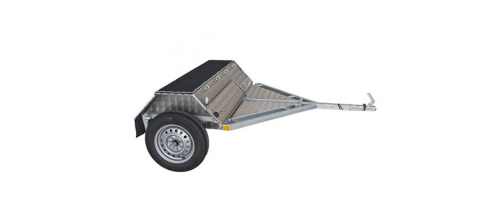 Remolque para moto Trial Zero lateral
